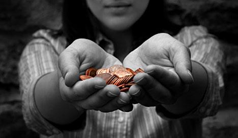 Hands Pennies